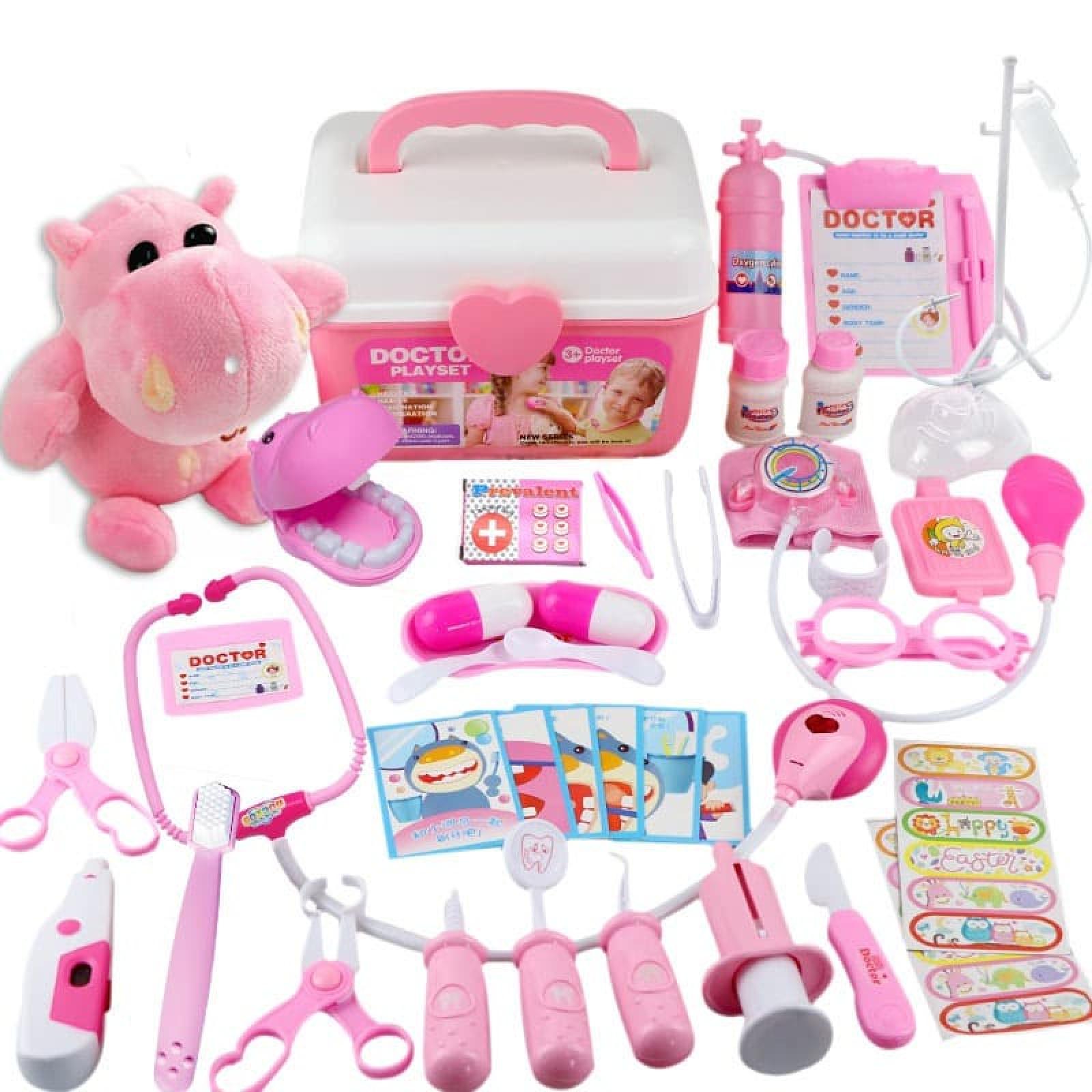 Bộ đồ chơi bác sĩ cho bé hộp nhựa mang đi tiện lợi 011